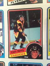 1984 85 OPC UNCUT SHEET GILMOUR CHELIOS NEELY ROOKIE!