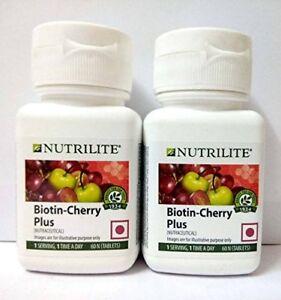 Amway Nutrilite Biotin Cherry Plus (60 pcs x 2 pack) Free Shipping