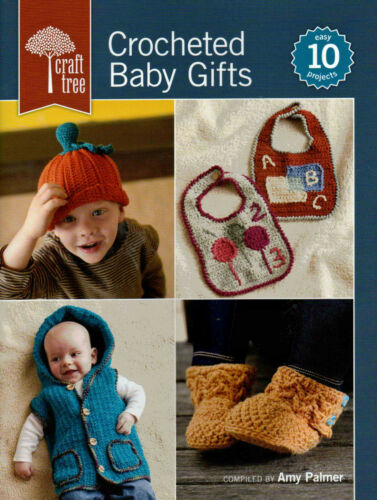 Infant Gifts Booties Blankets Bibs Dress Crochet Pattern Book Crocheted Baby