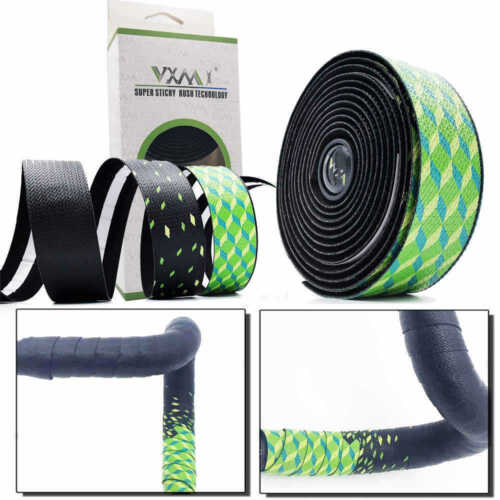 2 Pcs Cycling Road Bike Cork Handlebar Tape Bandage Wraps Bent Bar EVA Grips