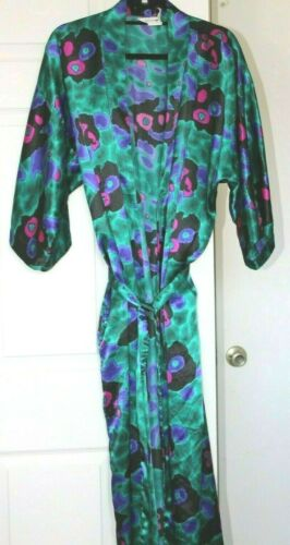 Apostrophe VTG 90s Womens L Poly Satin L/S Pajamas