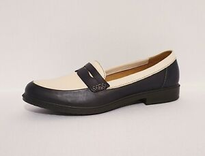 Cream Leather Loafers Shoes UK 7 Womens