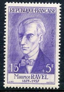 STAMP-TIMBRE-FRANCE-NEUF-N-1071-MAURICE-RAVEL-COMPOSITEUR-COTE-10