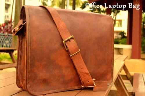 38cm New Echt Vintage Leder handgemachte Messenger Satchel Laptop Laptop Laptop Herren Tasche | Vogue  8786da
