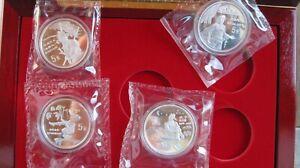 China 4 x 5 Yuan 1997 double sealed with original Box