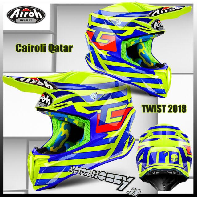 CASCO CROSS ENDURO MOTARD AIROH TWIST TONY CAIROLI QATAR 2018 TAGLIA L (59-60)