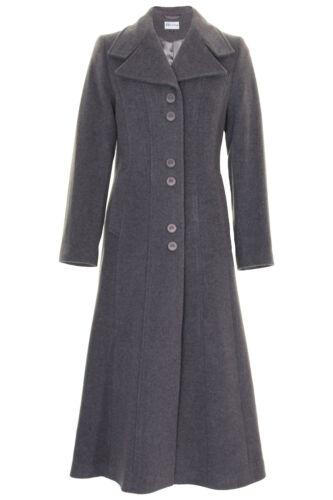 Busy Ladies Grey Melange Wool Blend Long Coat