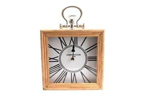 Kensington-Station-Inspired-Wooden-Square-Wall-Mantel-Clock-Pocket-Watch-Style