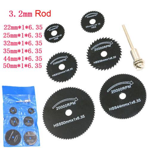 Vente 7pc 3.2 mm HSS Lame de scie circulaire coupe disque Cut-Off Wheel pour outil rotatif