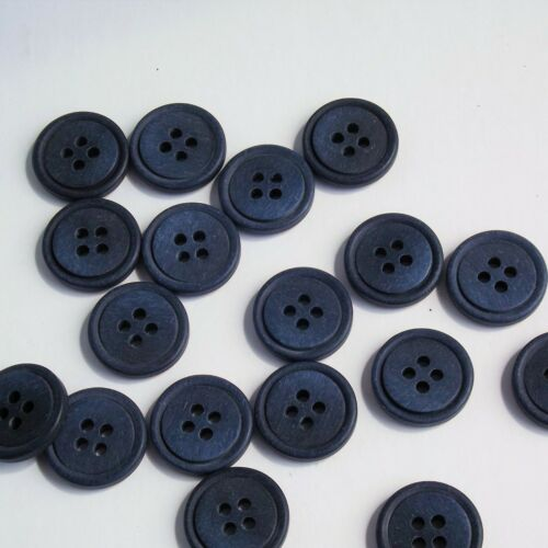 Blue Round Buttons 4 hole buttons 15mm Buttons g454815 20 Round Buttons