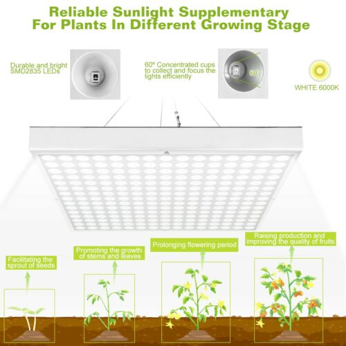 LED Grow Light Lamp 45W Hydroponic Enegy Save Design Indoor Medical Plants Veg