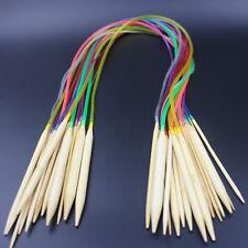 18 tlg/set Bambus Rundstricknadeln 80cm Länge 2mm bis 10mm Häkelnadel Schlauch