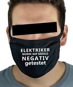 Elektriker Mundschutz Maske lustig Spruch Sprüche Arbeit Beruf witzig Kleidung