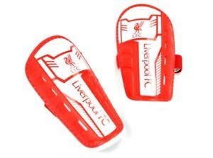 Shn025) Une Paire De Officiel Liverpool Fc Jeunesse Shin Pads-entièrement Neuf Sous Emballage Taille M-afficher Le Titre D'origine