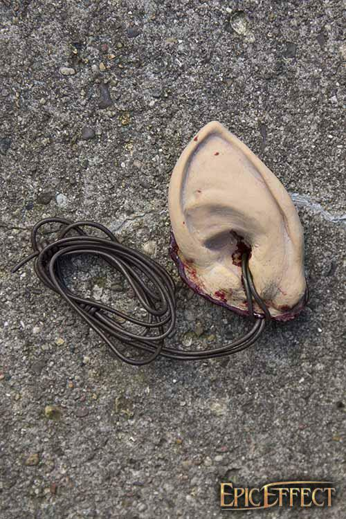 Latex Halfling Trophy Ear for Costume, Stage, Re-enactment & LARP