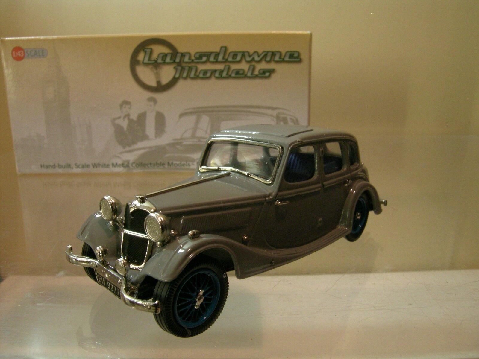 suministro de productos de calidad LANSDOWNE MODELS MODELS MODELS LDM 91 RILEY ADELPHI SALOON 1936 COLOUR gris + BOX SCALE 1 43  de moda