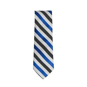 Ben Sherman Tie Blue Black White Striped 100% Silk Width 2.75