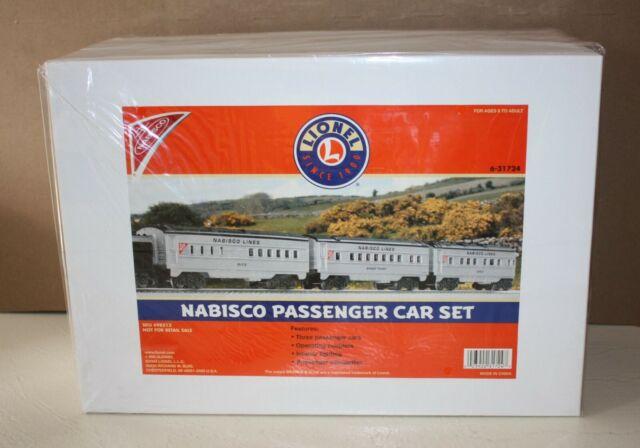 6-31724 Lionel Nabisco Uncataloged 3 Car 027 Passenger Set 2003 for sale online