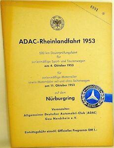 Qualifiziert 11 Oktober 1953 Adac Rheinlandfahrt 500 Km Nürburgring Programmheft Vii04 å Reich Und PräChtig