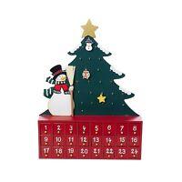 Kurt Adler Wooden Snowman With Tree Advent Calendar Free Shipping