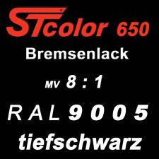 395 g Set 2K PU Bremsenlack schwarz 8:1 hitzebeständiger Lack 150°C Motorlack