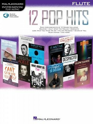 Strict 12 Pop Hits Flute Instrumental Play-along Book And Audio New 000261790 Regular Tea Drinking Improves Your Health Musical Instruments & Gear Instruction Books, Cds & Video