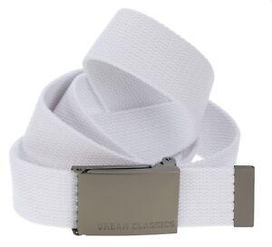 NEW-Urban-Classics-buckle-white-belt