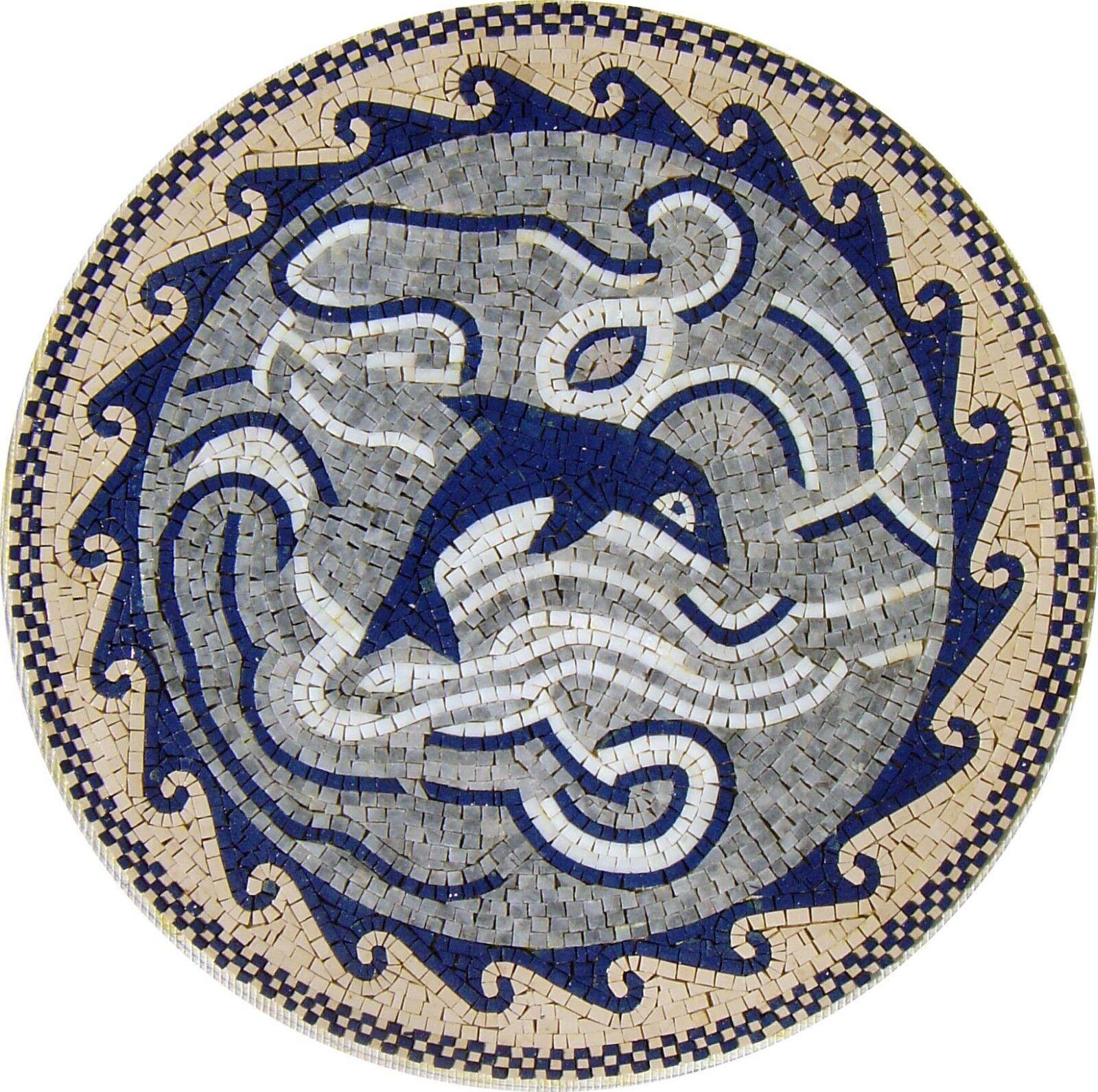 24  Handmade Decorative Medallion wall floor Marble Mosaic Art Stone Tile Decor.