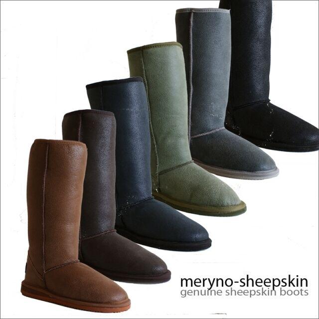 Botas de Piel de Oveja Genuina Zapatos de Invierno con Diseño Dot3 Meryno