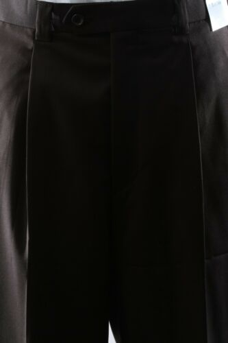 MENS SUPERIOR 150S P//R WOOL FEEL 3 BUTTON  BROWN 3PC VESTED SUIT SML-60513R-BRO