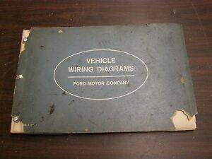 OEM Ford 1963 Wiring Diagram Book Galaxie Fairlane Comet ...
