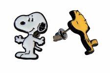 Peanuts Snoopy & Woodstock Metal Enamel Post Stud Earring Set