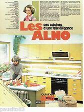 PUBLICITE ADVERTISING 106  1973  les Cuisines équipées Alno appareils AEG