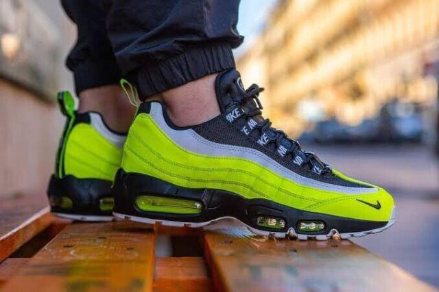 Nike Air Max 95 Premium Men's Sz 12 Volt Glow Black Running Shoes 538416 701