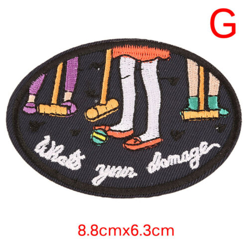 Iron On Sew On Patches Badge Bag Fabric Applique Craft Embroidered Decor DIY PlF