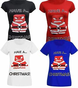 78b36b45346c8 New Women Novelty Xmas Plus Size Festive Slim Fit Gift T-Shirt Tops ...