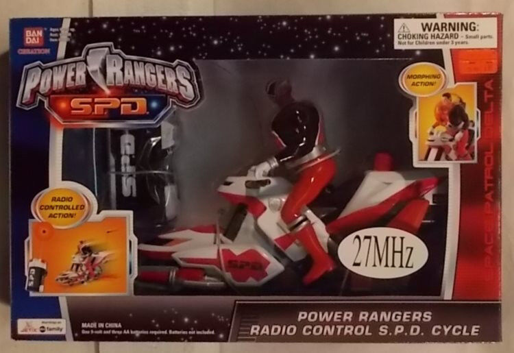 Power Rangers S.P.D. - Radio Control R/C SPD Cycle With ROT Ranger (MISB)