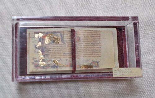 Dolls house miniature Museum History ILLUMINATED MANUSCRIPT BOOK IN CASE