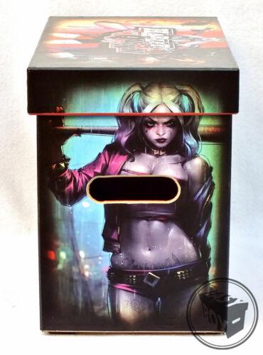 Large Comic Book Hard Box MDF Harley Quinn
