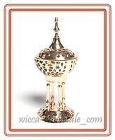 8 Beautiful Byzantine Pedestal Incense Charcoal Cone Resin Burner Church