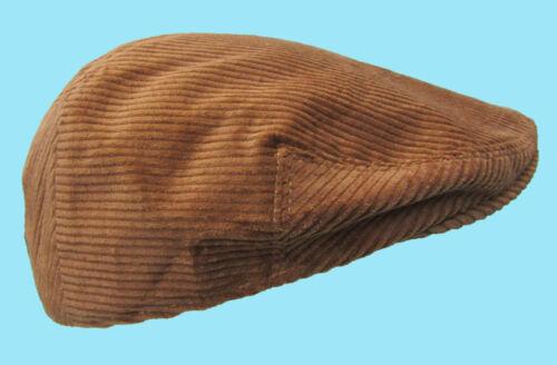 Flat Cap Camel Tan Brown Cord Camel Corduroy