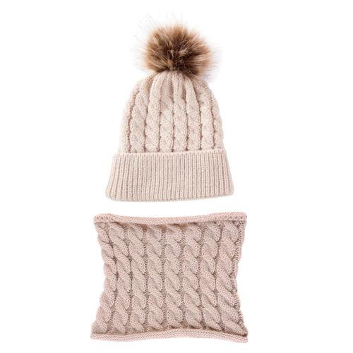 Kleinkind Mädchen Strickmütze Winter Warm Schal Set Für 0-2 Jahre Kinder,