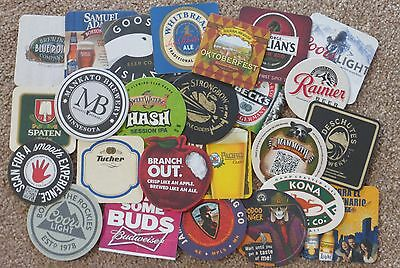 Lot of 50 Beer Coasters --  2 each of 25 different - All New