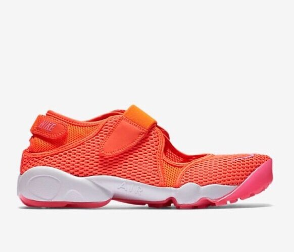 Nike Air Rift BR Total Crimson Pink Blast White 36.5 Size UK 3.5 EU 36.5 White US 6 New bbe3b3