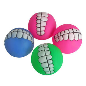 Pet-Dog-Novelty-Play-Durable-Squeaky-Teeth-Pattern-Smile