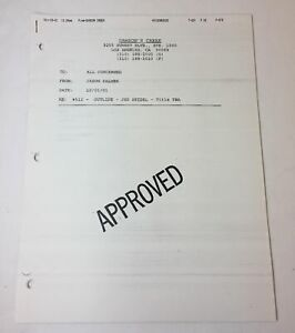 DAWSON-039-S-CREEK-set-used-paperwork-EPISODE-OUTLINE-Season-5-Episode-12