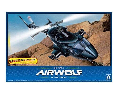 Aoshima 1/48 Airwolf Elicottero con extra Trasparente Carrozzeria