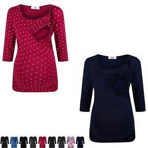 Zeta-Ville-Women-039-s-Maternity-Nursing-Double-Layer-Top-V-Neck-Shirt-160p
