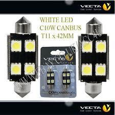 VECTA 12V AUTO INTERNI ESTERNI C10W CANBUS T11 42mm Festoon bianco SMD LED Lampadine
