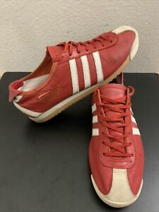 Details about Adidas italia Trainer 382278-2003 Red Leather Women's 8.5 Men 7
